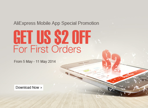 Mobile App Special Promotion, $2 OFF For First Orders