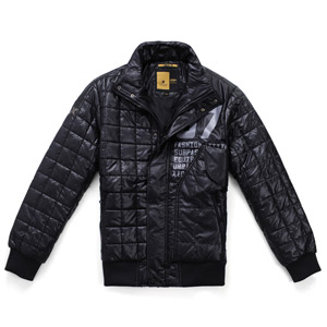 Men's Cotton-Padded Jacket w/ Stand Collar & Zipper