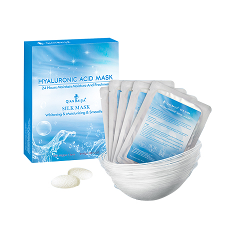 Qianbaijia Hyaluronic Acid Silk Face Mask