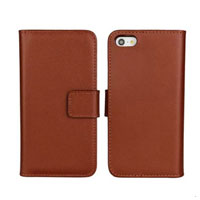 Real Leather Wallet Case for Iphone 5 5s With Card Pouch