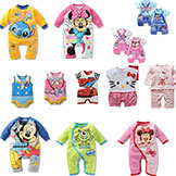 2014 Summer Brand Baby Romper Clothing Boy Girl Cartoon Hello Kitty Rompers Kids' Mickey Minnie Jumpsuit