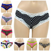 Wholesale 0.55 USD 3 US sizes S M L super hot selling very fashion assorted cheeky panties for young girls women ladies