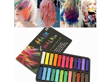 Hair Pastels Kit Non-Toxic 24 Colors