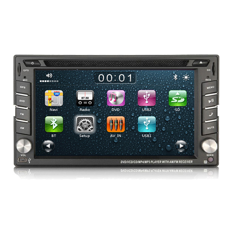 7 Inches 1080P Video And Iphone 6 Supported Universal Two Din Dvd Players Steering Wheel Bluetooth Car Kit With Keyboard
