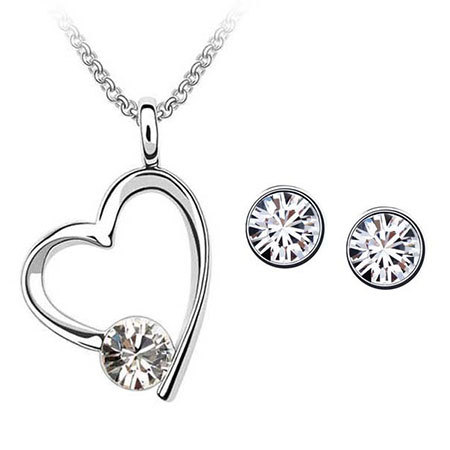 Heart Swarovski Element Crystal Jewelry Set 2015