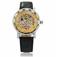 Hot Skeleton Watch for Men Mechanical Watches Winner Business Luxury Watch Stainless Steel Wristwatch