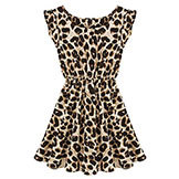 Summer Women's Vestidos Clothing Sexy Leopard Sleeveless Mini Dress #12 17536