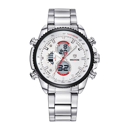 Weide Brand New Models Lcd Analog Digital Sports Wrist Watches With Japan Movt Quartz Watch Stainless Steel Back