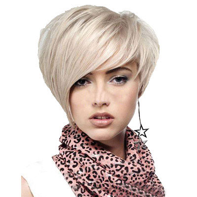 Women's Short Straight Wig Blonde