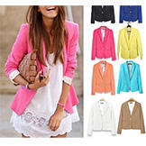 Women's One-Button Blazer Candy Colors