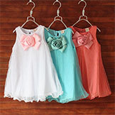 2014 Girls' Apparel 3~7Age Flower Kid Party Girl Dress Kids' Clothing