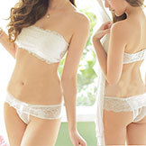 2014 Women's Sexy Lace Push Up Strapless Chest Wrap Set Four Hook-And-Eye Cute Bra Set