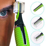 Battery Powered Men's Trimmer Shaver Hair Removal w/ LED Light Green Colors A3116