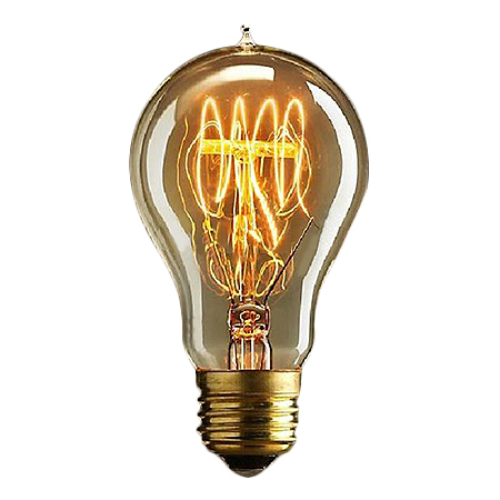 A19 25W/40W/60W 110V 220V Marconi Style led Light Bulb Vintage Edison Reproduction Clear Glass Bulb
