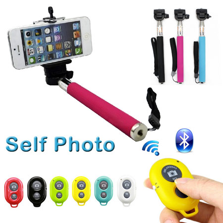Multi-function Mobile Phone Holder WIth Bluetooth Remote Camera Shutter Monopod