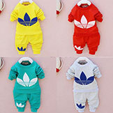 2014 Cotton Toddlers Kids' Baby Boy's Girls' Autumn Spring Clothing Set Suit Pattern Baby Shirt Pants Sets