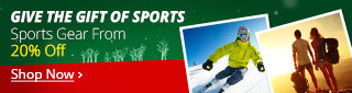 Sports Gear From 20% Off