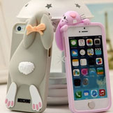 Silicone Lovely Cute Rabbit High iPhone 5 5S 5G Mobile Case Luxury Iphone5 Cover Items 1 Piece